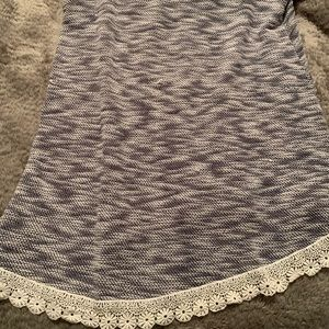 Sweater tank top with pretty crochet details